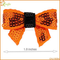 1.8'' mini Sequin Bow Knot Applique,Embroideried Sequin Bows For DIY Headbands,Hair Accessories Boutique