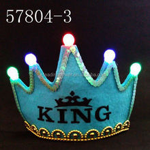 birthday king light up crown hat cap birthday party supplies 57804-3