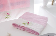 100% bamboo fiber manufacter lovely cat beautiful cotton terry embroidery bath towel