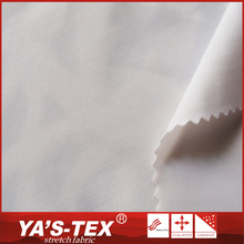 Eco friendly white poly spandex dyed knitted jersey fabric for pants