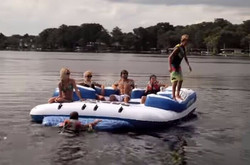 Factory direct inflatable water island ,inflatable island for kids & adult