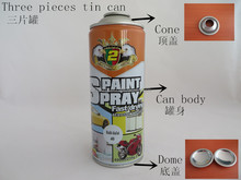 China manufacturer supply 400ml tinplate necked-in aerosol tin can for packaging industry