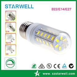 Innovative new design warm white cool white 8w led corn lights