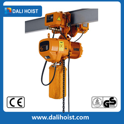 CE approved 0.5ton 1ton stage lifting electric chain hoist with 220V single phase