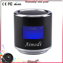 2015 stereo sound portable mini digital speaker with micophone fm radio tf card