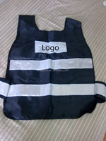 Blue-Black Police Fluorescent Safety Vest with PVC Tapes
