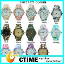 Custom Design vogue watch, geneva watch japan movt water resistant