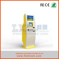 LKS automatic parking ticket machine with bill validator