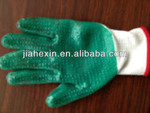 80g new design latex coated gloves with yellow liner for working
