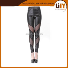 2015 summer and spring 3d digital polyamide leggings with hole