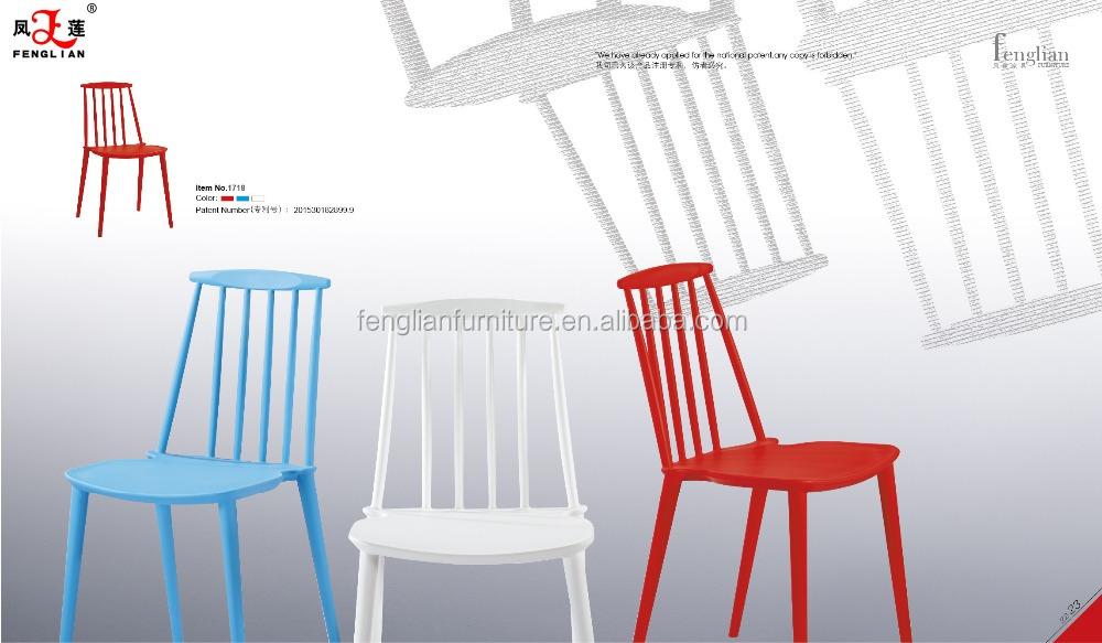 2015 Modern Style Original Design Plastic Chair Stackable
