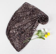 Direct Manufacturer fashion dummy model Scarf Curling of voile scarf Leopard grain design wind restoring ancient ways the sca