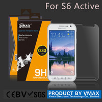 Vmax brand ! New arrival 9H Asahi screen guard / mobile phone screen protector for Samsung S6 Active