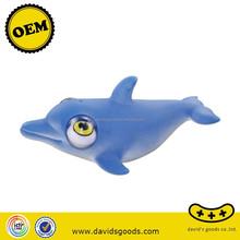 fashion animal vinyl toys custom new products blue dolphine vinyl toys