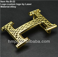 2016 New Classic plain stainless steel Gold/Silver fashion alloy belt buckle