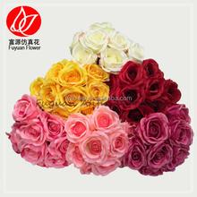 140430 factory direct sale cheap best sell hydrangea rose flower artificial wedding car decoration