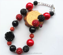 Wholesale the Black Rose kids chunky bubble gum bead necklace for baby girls jewelry with high quantity!!