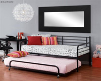 twin daybed trundle spare bed metal black frame loft bunk beds dorm mattress beds