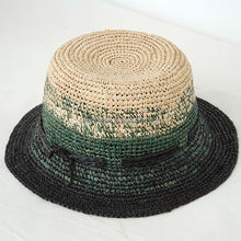 Children beach hat large brimmed crushable straw hats