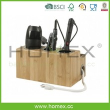 Bamboo Hair Styling Station /Eco-friendly bathroom storage /Homex_FSC/BSCI