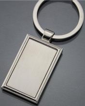Zinc Alloy Silver Plating Blank Metal Keychain ,keying