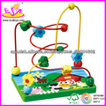 22 * 15 * 23cm de calidad superior de madera Cadena perlas de juguete con precio de fábrica