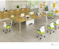 Hot Selling Long Stainless Steel Frame Office Conference Table, Office Meeting Desk