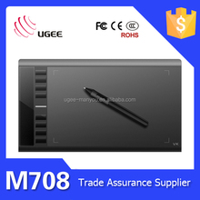 Ugee M708 10*6 Inch USB Drawing Pad for Computer 2048 Pen Pressure Sensitive Battery Stylus