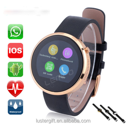2015 fashion latest smart watch DM360 Bluetooth 4.0 Compatible with Android & IOS Support Sleep Monitor Anti-Lost/ waterproof