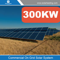 Hot sale 300kw solar energy generator system include photovoltaic panel 300w also with pv grid tie solar inverter price