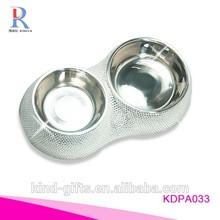 Rhinestone stainless Dog bowl/Pet Dishes