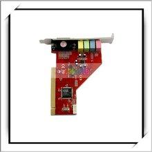 Card w/Game MIDI Port PC Audio PCI Sound Card 4 Channel