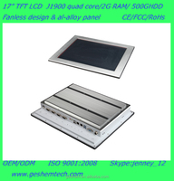PPC-GS1751T fanless al-alloyed industrial all in one pc with 17 inch touch screen