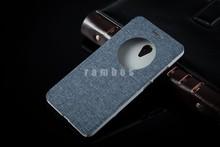 Hollow design window Flip case PC+PU customize case for Nokia Lumia435/Lumia330
