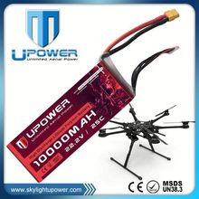 Upower 22.2v 10000mAh 6s 25C aa lithium batteries for RC helicopter airplane UAV