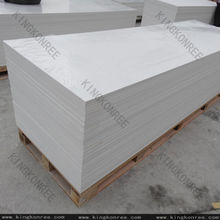 Kingkonree 6 mm 12 mm acrílico blanco sólido de superficie / superficie sólida blanca