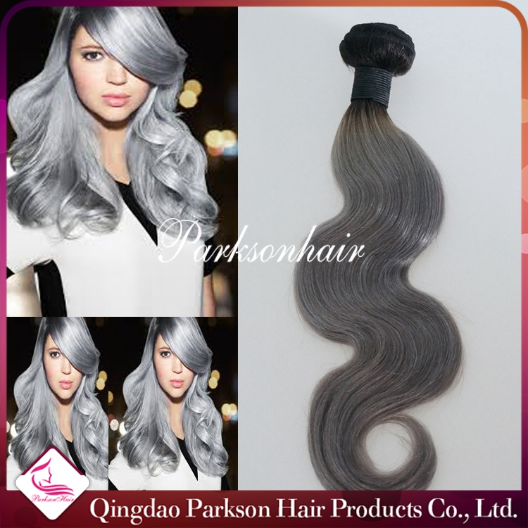 Multi Color Human Hair Extensions Triple Weft Hair Extensions
