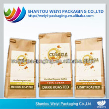 custom printed food grade recyclable reusable kraft tin tie bags
