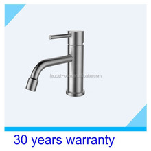 single handle Stainless steel material hot and cold basin faucet