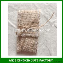 Cuntomize fábrica barato promocional mini regalo bolsas de yute hace of yute natural fibras