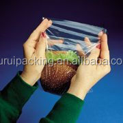Custom size disposable plastic food packaging