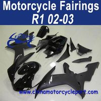 Injection Mold 02 03 For Yamaha R1 Motorbike Fairing Matte Black FFKYA003