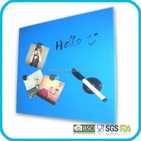 Magnetic Glass Memo Board 45 cm x 50 cm, bluw,white,black,red