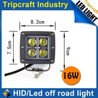 Sales Promotion! 4PCS/LOT! 16W LED TRUCK LIGHT for Motorcycle Driving Offroad Boat Car Tractor Truck 4x4 SUV ATV