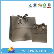 ribbon tie gift bags, apparel packaging bags for T-shirt