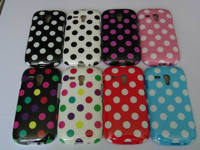 For samsung galaxy s3 mini i8190 polka dot view tpu mobile phone case with factory price