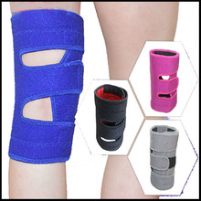 Adjustable double pressure 4 springs waterproof knee support brace pads for volleyabll basketball