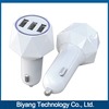 China-made ABS material 3 Usb port Car Charger for electronic equipment