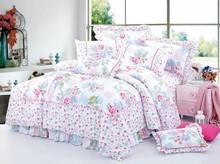 rich flowers 100% cotton bedding set