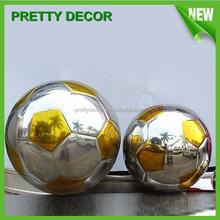 Stainless Steel Football Garden Ornaments Football in Metal